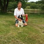 Steen med dagens bedste dressur-hund Ilo.